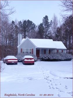 Snow  in Carolina.